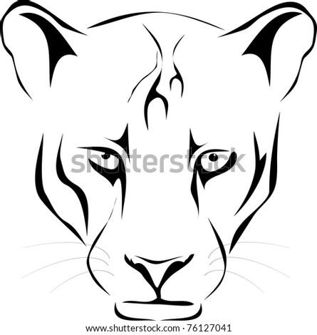 vector wild cat - stock vector