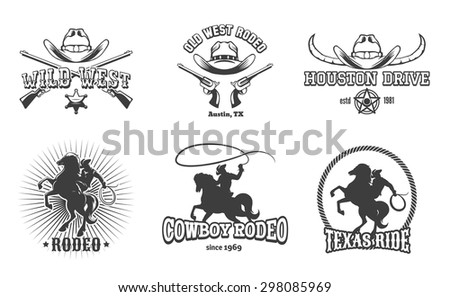 vector wild west and rodeo