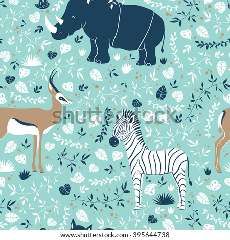 vector wildlife seamless