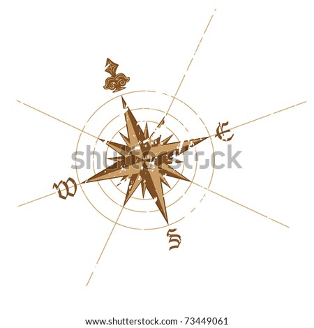 Vector wind rose compass. Great for any directions on your work.