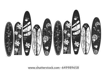 vector wind surfing boards