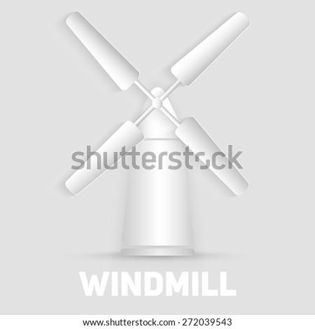 vector windmill symbol organic