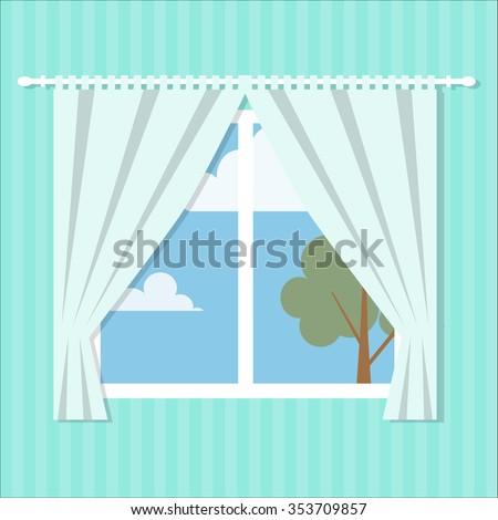 vector window flat style