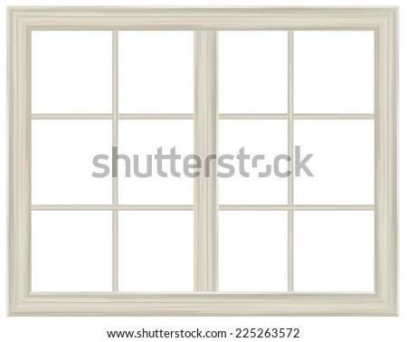 vector window frame isolated