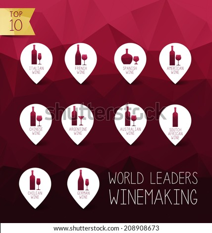 vector wine icon world leaders