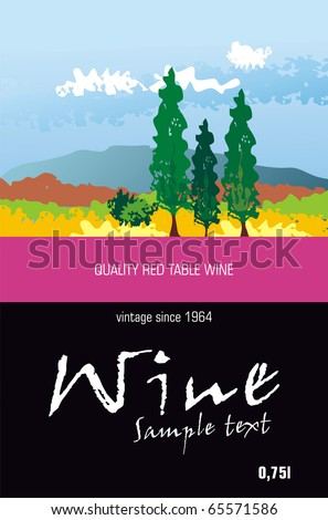 Vector Wine Label