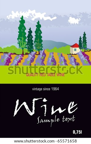 Vector Wine Label - stock vector