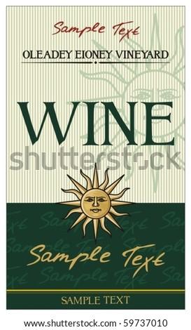 vector wine label (design)