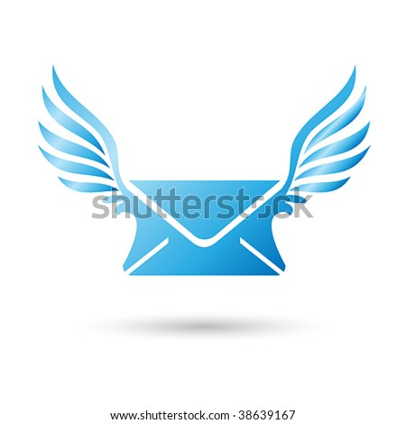 Vector Winged Mail Envelope
