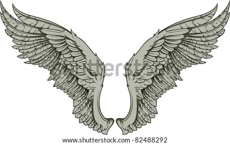 Vector wings - stock vector