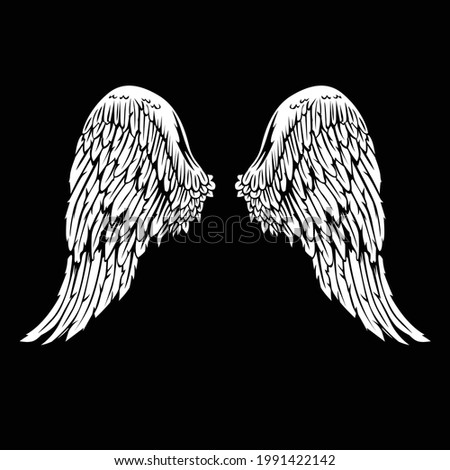 Vector wings logo wing brand and logotype wing bird Winged logo company and icon wing flying eagle  illustration