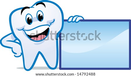 vector winking happy smiling tooth
