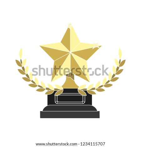 vector winner award isolated vector - competition winning sign symbol . champion first placereward illustration sign