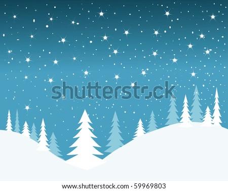 vector winter background.