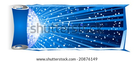 vector winter background for party design