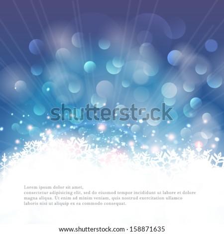 vector winter bokeh background