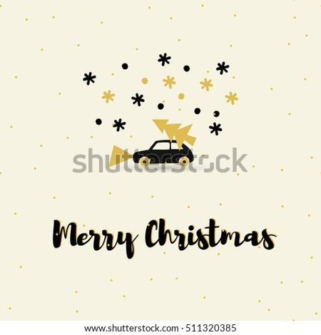 vector winter christmas card