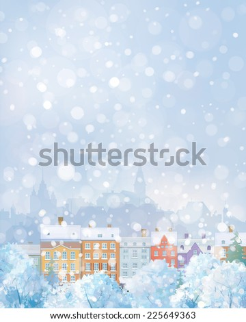 vector winter cityscape