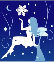vector winter fairy