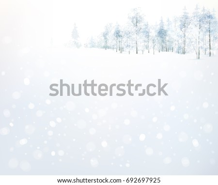 vector winter  forest