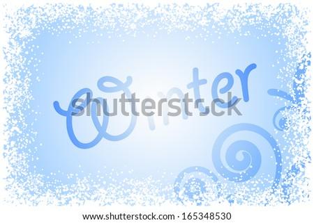 vector winter glass