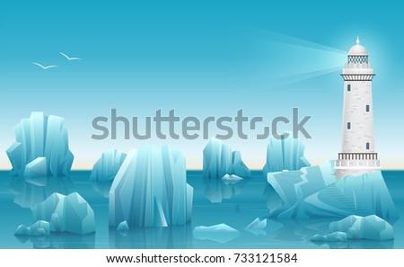 vector winter landscape of
