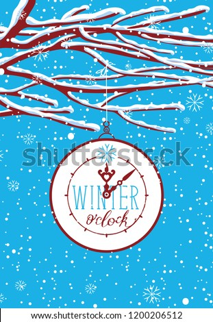 vector winter landscape with