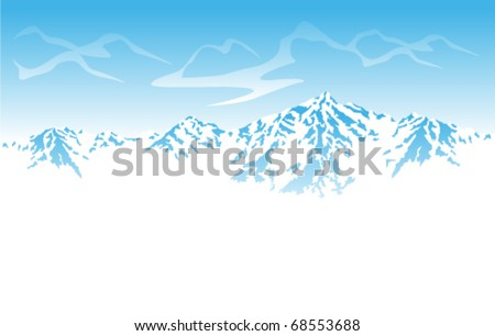 vector Winter mountains