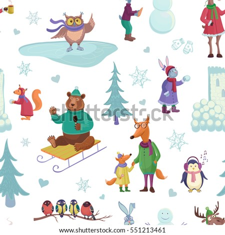 vector winter pattern on a