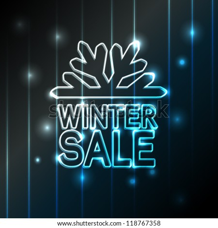 Vector winter sale - Christmas offer