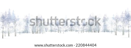 vector winter scene with forest
