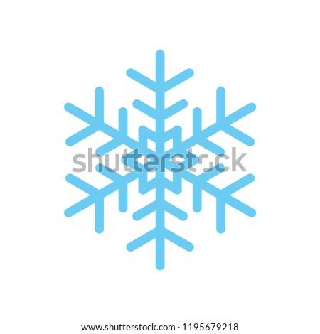 Vector winter snowflake