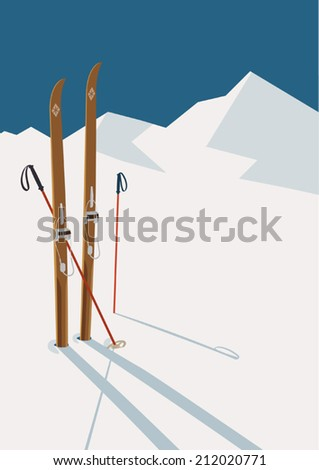 vector winter themed template...