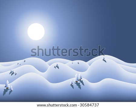 vector winterland for winter