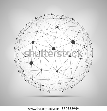 vector wireframe connecting