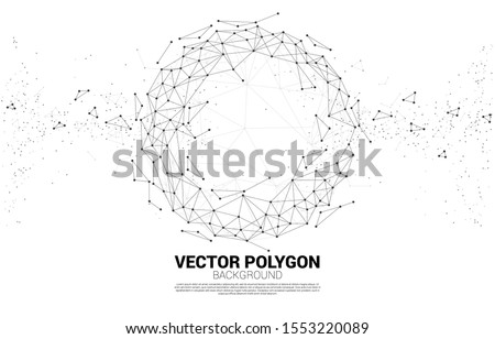 Vector Wireframe polygonal lines Connect dot Geometric sphere isolated on white background. Concept of Big Data and data transformation.