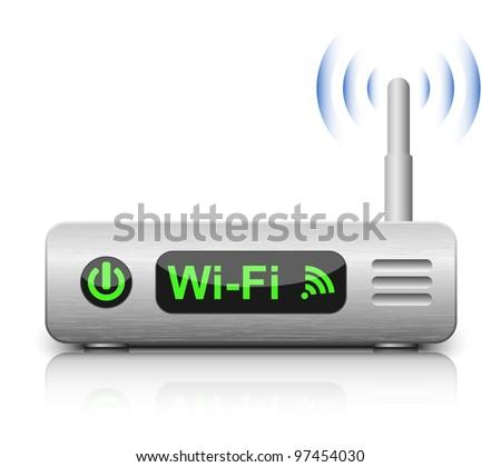 Vector Wireless Router Icon - stock vector