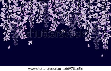 vector wisteria tunnel violet