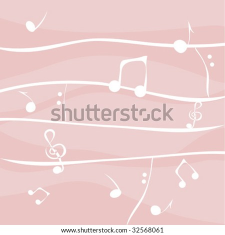 Vector with colorful music notes