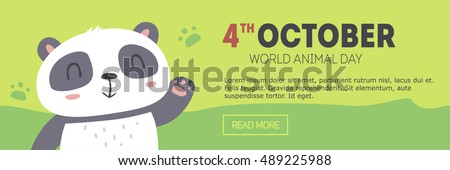 vector wold animal day banner