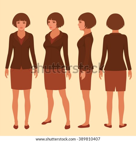 vector woman cartoon character
