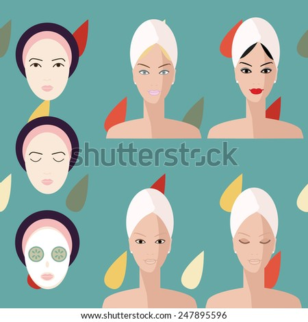 Faces Vector Vector Woman Face Flat