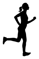Vector Woman Running Silhouette