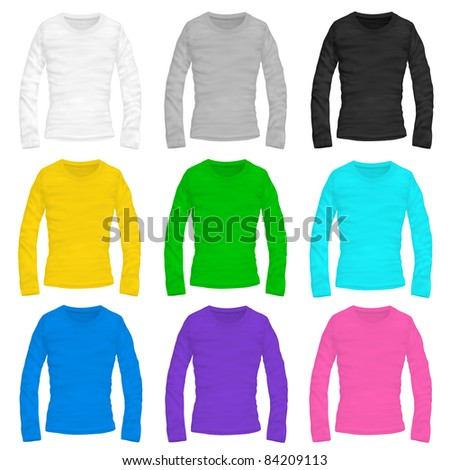 Vector Woman'S Long-Sleeved Shirt - 84209113 : Shutterstock