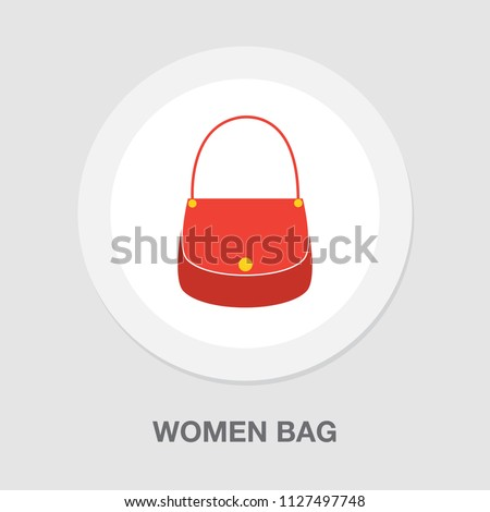 vector women bag or purse illustration isolated - beautiful, beauty and elegance shop