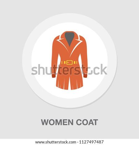 vector women coat illustration isolated. elegant and beautiful formal clothing fashion wear style symbol