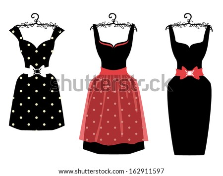 vector women dress