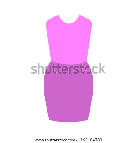 vector women dress illustration isolated. elegant and beautiful clothing fashion wear style symbol