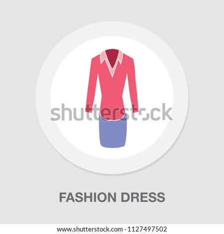 vector women formal dress illustration isolated. elegant and beautiful formal clothing fashion wear style symbol