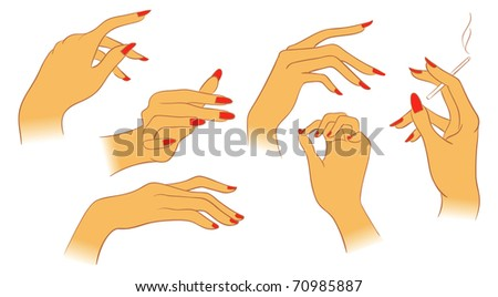 Vector women hands